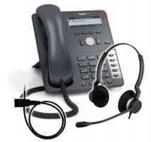 SNOM 715 + Jabra BIZ 2300 Duo + Adapterkabel 8800-00-25