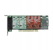 Digium 1A4A06F 4 Port 4-FXS/0-FXO PCI Card with EC