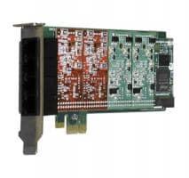 Digium 1A4B06F 4 Port 4-FXS/0-FXO PCI-e Card with EC