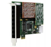Digium 1A8B04F 8 Port 4-FXS/4-FXO PCI-e Card with EC