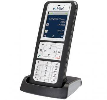 """Mitel 632d DECT Telefon mit 2"""" TFT-Farbdisplay"""