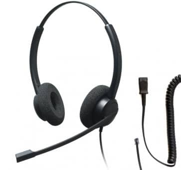 Addasound CRYSTAL 2732 Binaural Headset + DN1008 Adapterkabel