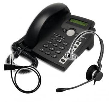 SNOM 300 + Jabra BIZ 2300 Mono + Adapterkabel 8800-00-01