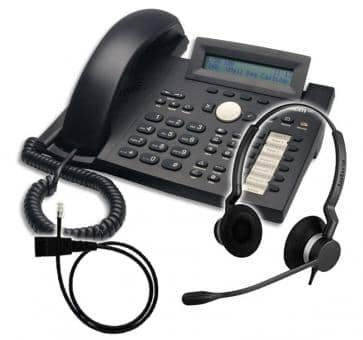 SNOM 320 + Jabra BIZ 2300 Duo + Adapterkabel 8800-00-25