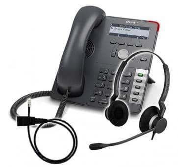 SNOM 710 + Jabra BIZ 2300 Duo + Adapterkabel 8800-00-25