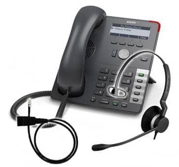 SNOM 710 + Jabra BIZ 2300 Mono + Adapterkabel 8800-00-25