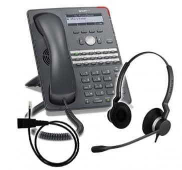 SNOM 720 + Jabra BIZ 2300 Duo + Adapterkabel 8800-00-25