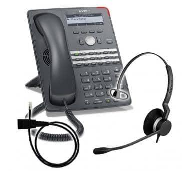 SNOM 720 + Jabra BIZ 2300 Mono + Adapterkabel 8800-00-25