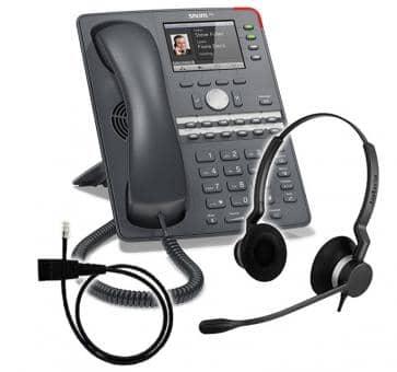 SNOM 760 + Jabra BIZ 2300 Duo + Adapterkabel 8800-00-25