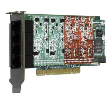 Digium 1A4A00F 4 Port Basiskarte analog PCI (ohne Module)