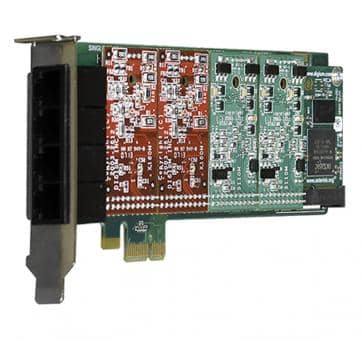 Digium 1A4B00F 4 Port Basiskarte analog PCIe (ohne Module)