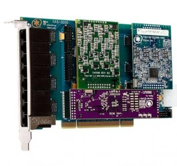 Digium HA8-0000BLF Hybrid Basiskarte PCI 8 Ports + HW EC
