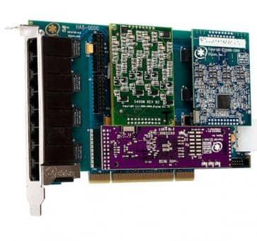 Digium HB8-0000BLF Hybrid Basiskarte PCIe 8 Ports + HW EC