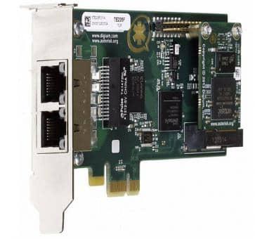 Digium TE235F dual Span T1/E1/J1 2xPRI Karte PCIe