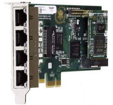 Digium TE435F quad Span T1/E1/J1 4xPRI Karte PCIe