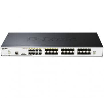 D-Link DGS-3120-24SC 24x Gigabit SFP davon 4x 1000BASE-T/SFP 2x 10 Gigabit Stacking Ports L2 Switch