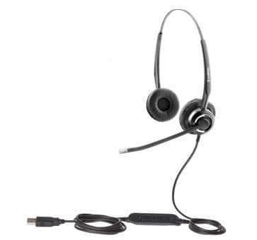 freeVoice SoundPro 410 Headset USB UC Duo FSP410UCB SfB