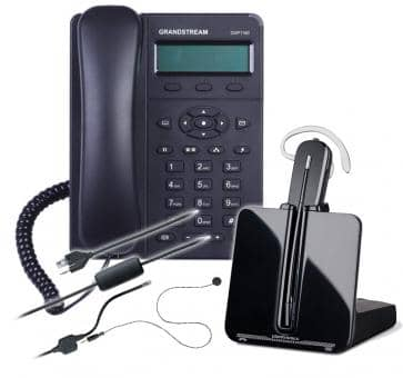 GRANDSTREAM GXP1160 HD + Plantronics CS540 + APV-63