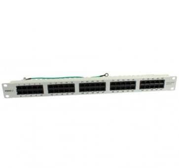 "19"" Patchpanel 50xTP, CAT3, ISDN in Farbe Lichtgrau"