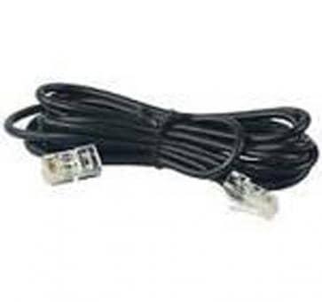 ISDN Kabel 10m Cat.3, 4-polig RJ45/RJ45 schwarz