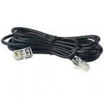 ISDN Kabel 6m Cat.3, 4-polig RJ45/RJ45 schwarz