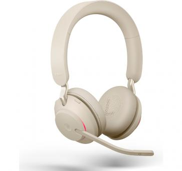 Jabra Evolve2 65 Duo Bluetooth Headset - Beige