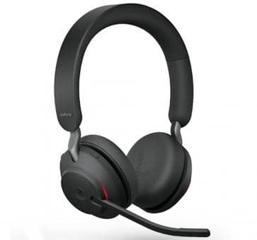Jabra Evolve2 65 Duo Bluetooth Headset - Schwarz