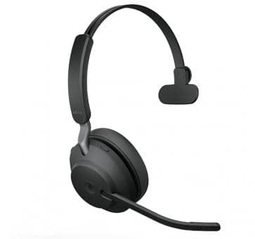 Jabra Evolve2 65 Mono Bluetooth Headset - Schwarz
