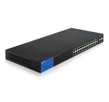 LINKSYS LGS326P 24x Gigabit PoE+ 2x SFP Combo Ports Smart Switch