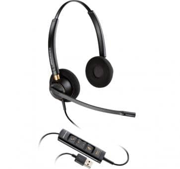 Plantronics EncorePro HW525 USB DUO Headset 203444-01