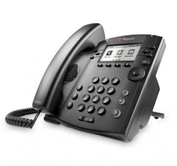 Polycom VVX300 Desktop Telefon Skype for Business (Lync) HD Voice 2200-46135-018