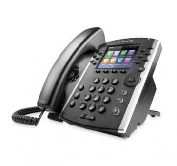 Polycom VVX410 IP Telefon PoE Skype For Business 2200-46162-019 (ohne Netzteil)