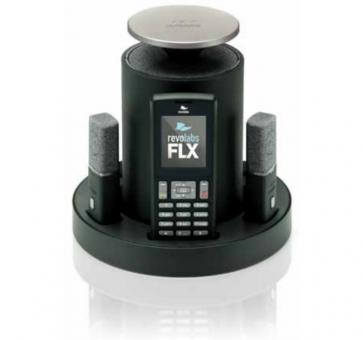 revolabs FLX 2 VoIP Konferenzsystem mit zwei direktionalen Mikrofonen