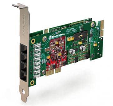 Sangoma A200BRMDE Basiskarte PCIe + HW EC
