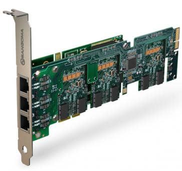 Sangoma A500BRMDE Basiskarte 2 - 24 Port BRI PCIe + HW EC