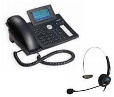 SNOM 360 PoE VoIP Telefon inkl. SNOM MM2 Headset