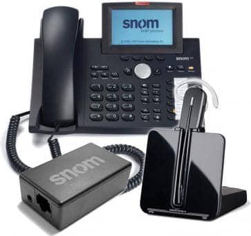 SNOM 370 + Plantronics CS540 + SNOM Wireless Headset Adapter Advanced