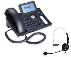 SNOM 370 PoE VoIP Telefon inkl. SNOM MM2 Headset