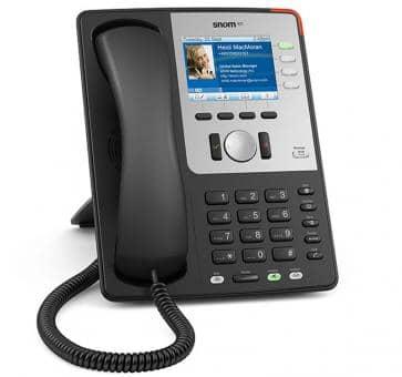 SNOM 821 Schwarz IP Telefon mit Farbdisplay
