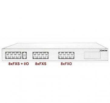 Xorcom Astribank - 16 FXS + 8 FXO - XR0006