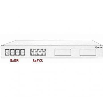 Xorcom Astribank - 8 BRI + 8 FXS - XR0042 - 1U