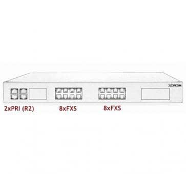 Xorcom Astribank - 2 PRI + 16 FXS - XR0058