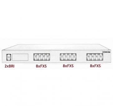 Xorcom Astribank - 2 BRI + 24 FXS - XR0066