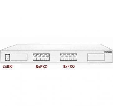 Xorcom Astribank - 2 BRI + 16 FXO - XR0088
