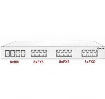 Xorcom Astribank - 8 BRI + 16 FXS + 8 FXO - XR0104