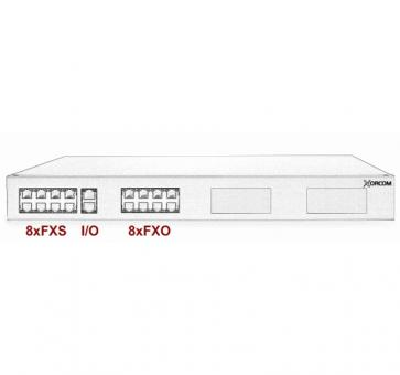 Xorcom IP PBX - 8 FXS + 8 FXO - XR1-04