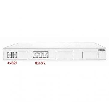 Xorcom IP PBX - 4 BRI + 8 FXS - XR1-29