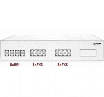 Xorcom IP PBX - 8 BRI + 16 FXS - XR2043