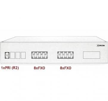Xorcom IP PBX - 1 PRI + 16 FXO - XR2070