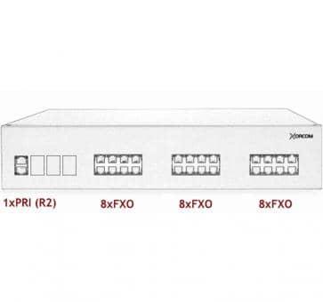 Xorcom IP PBX - 1 PRI + 24 FXO - XR2071